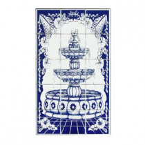 4.25 in. x 4.25 in. Foutain Blue Tiles (15-Pieces)-DISCONTINUED