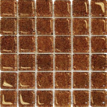 MS International 12 in. x 12 in. Brown Glass Mesh-Mounted Mosaic Tile-DISCONTINUED