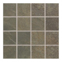 Daltile Continental Slate Brazilian Green 12 in. x 24 in. x 6mm Porcelain Mosaic Floor or Wall Tile(22 sq.ft./case)-DISCONTINUED