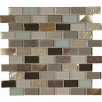 MS International Autumn Leaves 12 in. x 12 in. x 8 mm Glass Stone Metal Mesh-Mounted Mosaic Tile