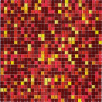 Elementz 12.8 in. x 12.8 in. Venice Solar Mix Glossy Glass Tile-DISCONTINUED