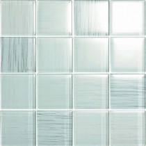 EPOCH Brushstrokes Bianco-1506-3 Mosaic Glass Mesh Mounted - 4 in. x 4 in. Tile Sample-DISCONTINUED