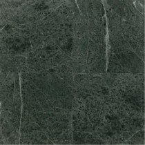 Daltile Natural Stone Collection Hulien Green 12 in. x 12 in. Polished Marble Floor/Wall Tile (10 sq. ft. / case)-DISCONTINUED