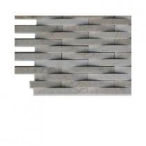 Splashback Tile 3D Reflex Athens Grey Stone Tile Sample
