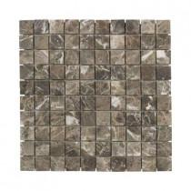 Jeffrey Court Emperador 12 in. x 12 in. x 8 mm Marble Mosaic Floor/Wall Tile