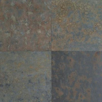 Daltile Natural Stone Collection Brazil Multicolor 16 in. x 16 in. Slate Floor and Wall Tile (10.62 sq. ft. / case)-DISCONTINUED