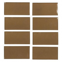 Jeffrey Court Lava Cake Cold Spray 3 in. x 6 in. Glass Wall Tile (1 pk / 8 pcs-1 sq. ft.)