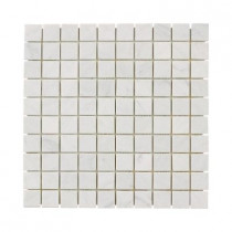 Jeffrey Court Carrara White 12 in. x 12 in. x 8 mm Marble Mosaic Floor/Wall Tile