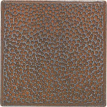 Daltile Castle Metals 4-1/4 in. x 4-1/4 in. Wrought Iron Metal Hammered Insert Wall Tile