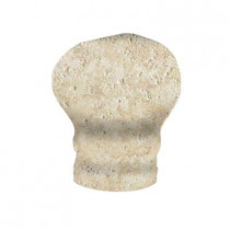 MARAZZI Artea Stone 1-1/4 in. x 2-1/4 in. Avorio Porcelain Sink-Rail Corner Wall Tile-DISCONTINUED