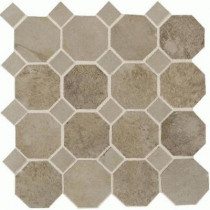 Daltile Aspen Lodge Shadow Pine 12 x 12 x 6mm Porcelain Octagon Mosaic Floor and Wall Tile (7.74 sq. ft. / case)-DISCONTINUED