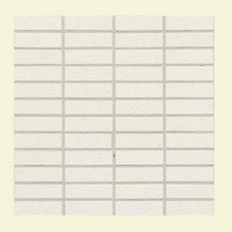 Daltile Identity Paramount White Fabric 12 in. x 12 in. x 9-1/2 mm Porcelain Mesh-Mounted Mosaic Tile-DISCONTINUED