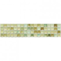Daltile Fashion Accents Sand 3 in. x 12 in. 8 mm Illumini Mosaic Accent Wall Tile