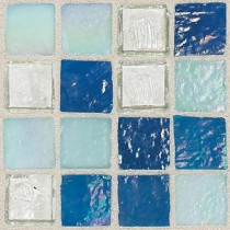 Daltile Egyptian Glass Blue Pearl Mix 12 in. x 12 in. x 6 mm Glass Face-Mounted Mosaic Wall Tile