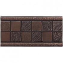 Weybridge 3 in. x 6 in. Cast Metal Mosaic Deco Dark Oil Rubbed Bronze Tile (10 pieces / case) - Discontinued