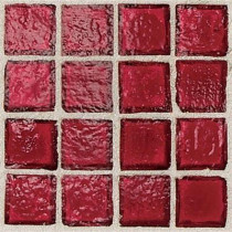 Daltile Egyptian Glass Crimson 12 in. x 12 in. x 6 mm Glass Face-Mounted Mosaic Wall Tile (11 sq. ft. / case)