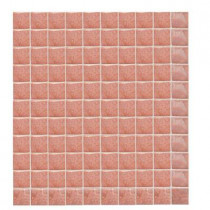 Daltile Sonterra Glass Rosa Iridescent 12 in. x 12 in. x 6 mm Glass Sheet Mounted Mosaic Wall Tile-DISCONTINUED