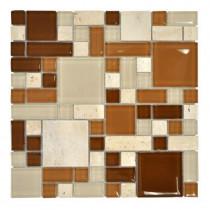 Jeffrey Court 12 in. x 12 in. Regatta Pinwheel Glass Mosaic Tile-DISCONTINUED