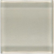 Daltile Isis Oyster 12 in. x 12 in. x 3 mm Glass Mesh-Mounted Mosaic Wall Tile