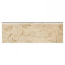 Daltile Brancacci Fresco Caffe 3 in. x 9 in. Ceramic Bullnose Wall Tile