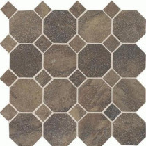 Daltile Aspen Lodge Midnight Blaze 12 in. x 12 in. x 6 mm Porcelain Octagon Mosaic Floor and Wall Tile (7.74 sq. ft. / case)