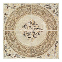 Daltile Castle De Verre Universal 40 in. x 40 in. Porcelain Decorative Mural Floor and Wall Tile