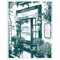 6 in. x 6 in. Ristorante Green Tiles (12-Pieces)-DISCONTINUED
