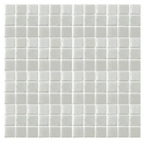 Epoch Architectural Surfaces Irridecentz I-Off White-1413 Mosiac Recycled Glass Mesh Mounted Tile - 3 in. x 3 in. Tile Sample