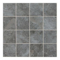 Daltile Continental Slate English Gray 12 in. x 24 in. x 6mm Porcelain Mosaic Floor/Wall Tile (22 sq. ft. / case)-DISCONTINUED