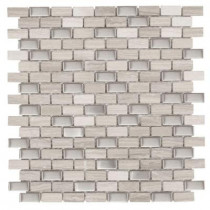 Jeffrey Court Brick Boulevard 11- 1/4 in. x 12 in. x 8 mm Stone Stainless Mosaic Wall Tile
