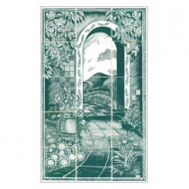 4.25 in. x 4.25 in. Garden Path Blue Tiles (15-Pieces)-DISCONTINUED