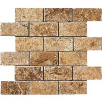 MARAZZI Montagna Belluno Noce 12 in. x 12 in. x 8mm Porcelain Mosaic Floor and Wall Tile