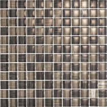 EPOCH Brushstrokes Grigio-1504 Mosaic Glass Mesh Mounted - 4 in. x 4 in. Tile Sample-DISCONTINUED