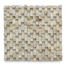 Solistone Cubist Cezanne 12 in. x 12 in. x 22.2mm Marble Mesh-Mounted Mosaic Wall Tile (5 sq. ft./ case)
