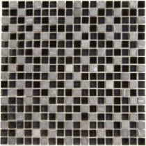 Epoch Architectural Surfaces Dancez Fandango Stone and Glass Blend Mesh Mounted Floor and Wall Tile - 3 in. x 3 in. Tile Sample