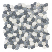 Jeffrey Court Carrera River Rocks 12 in. x 12 in. x 8 mm Marble Mosaic Wall Tile