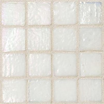 Daltile Egyptian Glass Cotton 12 in. x 12 in. x 6 mm Glass Face-Mounted Mosaic Wall Tile