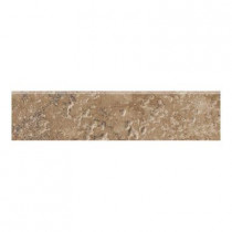 MARAZZI Artea Stone 3 in. x 13 in. Cappuccino Porcelain Bullnose Floor and Wall Tile